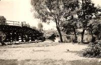 Zburzony most na Warcie - 1939 r._1