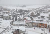 Osjaków z wieży kościelnej zimą-2